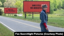 "Frances McDormand stars as a mother who goes to war with police in her town after her daughter's murder in the film, ""Three Billboards Outside Ebbing, Missouri.''"