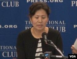 中国维权律师高智晟的妻子耿和在华盛顿呼吁国际社会发声,要求北京允许高智晟来美就医。(2014年9月9日)