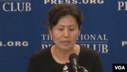 中國維權律師高智晟的妻子耿和在華盛頓呼籲國際社會發聲,要求北京允許高智晟來美就醫。(2014年9月9日)