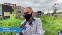 Roberto, habitante de calle en Bogotá