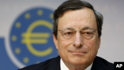 Mario Draghi, the president of the European Central Bank, in Frankfurt, Germany, August 2, 2012.