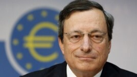 Mario Draghi, the president of the European Central Bank, Frankfurt, Germany, August 2, 2012.