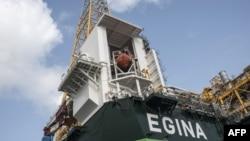 Une plateforme de pétrole Egina à Lagos, Nigeria, le 23 février 2018.