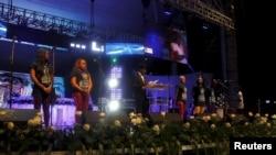 Concert à Abidjan.