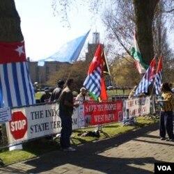 Demonstrasi OPM di Papua.