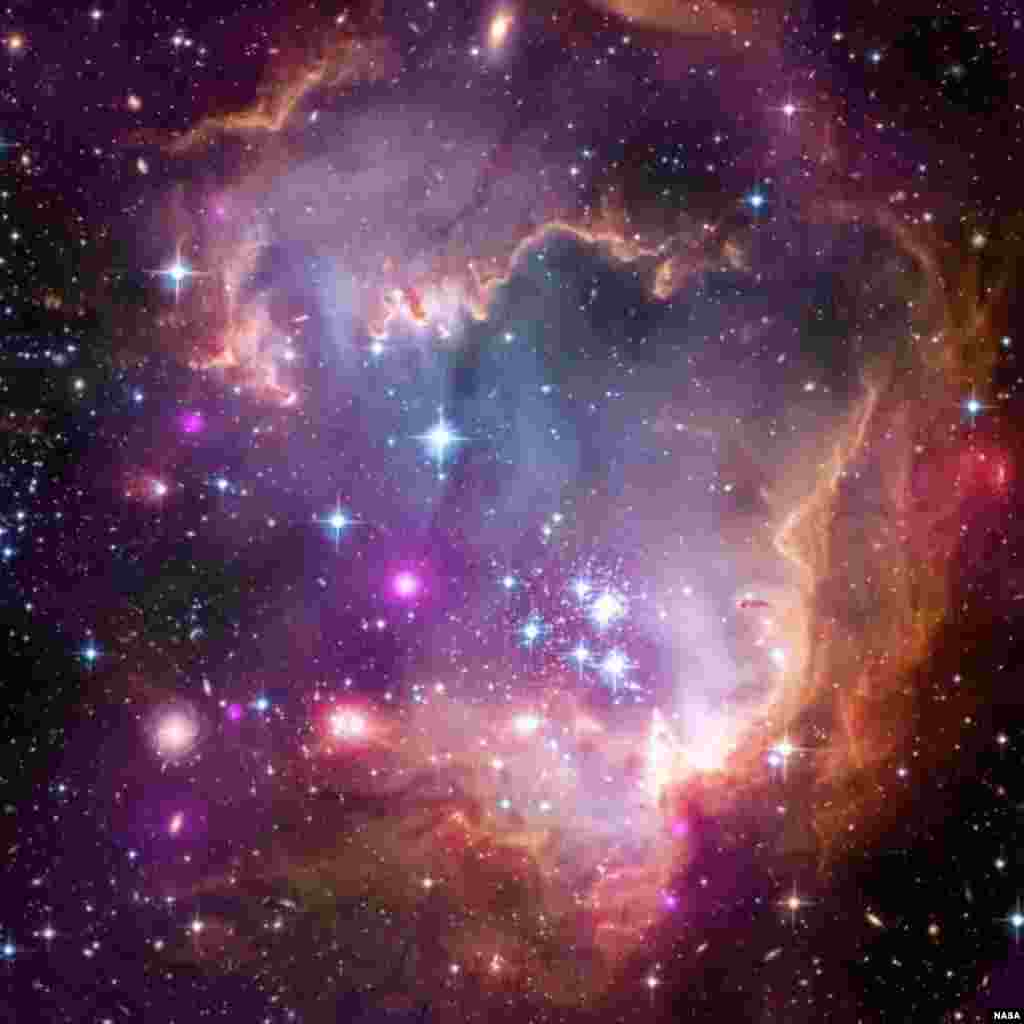 The Small Magellanic Cloud (SMC) is one of the Milky Way's closest galactic neighbors. Even though it is a small, or so-called dwarf galaxy, the SMC is so bright that it is visible to the unaided eye from the Southern Hemisphere and near the equator.