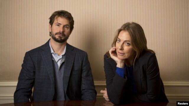 Penulis naskah Mark Boal dan sutradara Kathryn Bigelow saat pemutaran film mereka 'Zero Dark Thirty' di New York (4/12/2012). (Reuters/Andrew Kelly)