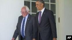 Барак Обама і Берні Сандерс