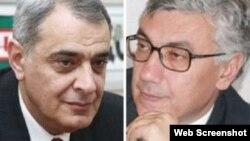 Eldar Namazov və Ermənistanın keçmiş milli təhlükəsizlik naziri David Şahnazaryan