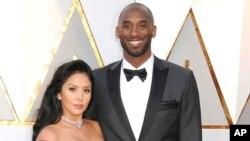 Vanessa Bryant e Kobe Bryant em 2018