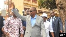 Le président Alpha Condé à Conakry, 4 fébrier 2018. (CELLOU BINANI /AFP)