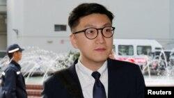 香港本土民主前線前成員、前立法會參選人梁天琦.(2018年1月18日路透社)