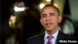 美國總統奧巴馬星期三錄制週六廣播講話
