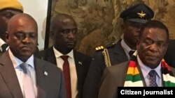 Mutungamiri wenyika VaEmmerson Mnangagwa nemutungamiri weBotswana VaMokgeetsi Masisi