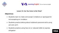 Lesson Plan - Lesson 21