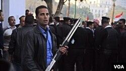 1月25日开罗解放广场高度警戒