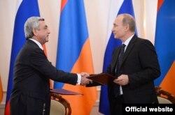 Президент Вірменії Саргсян та Президент Росії Путін