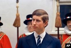 Pangeran Charles di London, 25 Maret 1968. Hari ini, 14 November, Pangeran Charles merayakan ulang tahun ke-70. (Foto: dok)