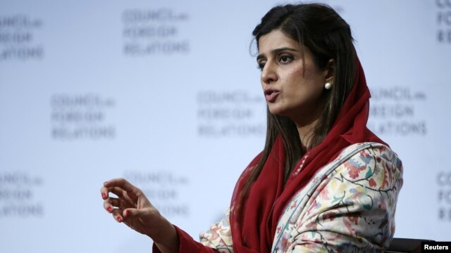 Pakistan Minister for Foreign Affairs Hina Rabbani Khar addresses Council on Foreign Relations, New York, Jan. 16, 2013.