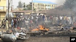 나이지리아 카두나에 있는 한 교회 인근에서 발생한 폭탄 테러 현장(자료사진)