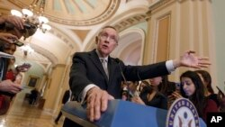 Senate Majority Leader Harry Reid seen here in a March 2014 file photo on Capitol Hill.