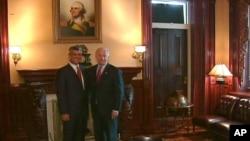Από τη συνάντηση του Αντιπροέδρου Μπάιντεν με τον Πρωθυπουργό του Κοσυφοπεδίου, Χασίμ Θάτσι