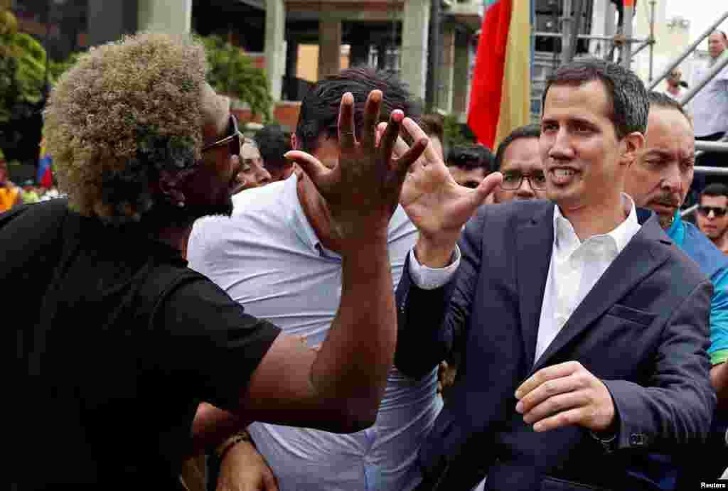 رئیس جمهوری موقت ونزوئلا و پیام تبریک هواداران