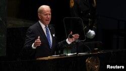 Tổng thống Hoa Kỳ Joe Biden phát biểu tại LHQ hôm 21/9/2021.
