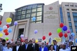 Cumhuriyet gazetesi davası adliye binasının önü
