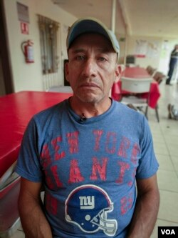 Mario Hernandez, a migrant from Guatemala, says he escaped threats from the Maras gang in Guatemala. But because of uncertainty in the U.S. asylum process and anti-immigration rhetoric, he has opted to seek a humanitarian visa in Mexico instead of continuing north. (R. Taylor/VOA)