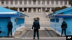 分离朝韩的板门店边界线 (资料照片)