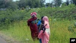 Des personnes fuyant les combats de l'Etat du Nil bleu