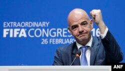 Le nouveau président de la Fifa, Gianni Infantino