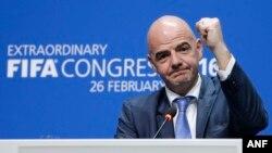 Tân chủ tịch FIFA Gianni Infantino.