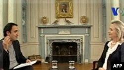 """Dövlət katibi Klinton:""""ABŞ İran xalqı ilə qarşılıqlı əlaqələrin genişləndirilməsinə çalışır"""" (VİDEO VƏ AUDİO)"""