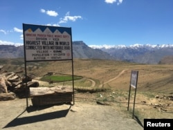 At 4,587 meters (15,050 feet), Komik village - located in Spiti Valley in India's northern state of Himachal Pradesh state - is one of the world's highest human settlements with a road, July 4, 2017..