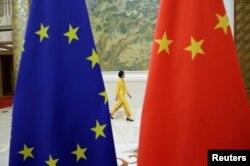 中國和歐盟高層經濟對話在北京召開。(2018年6月25日路透社)