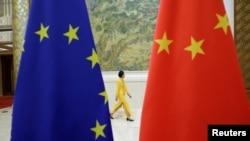 Zastave Evropske unije i Kine, Foto: (ilustracija), REUTERS/Jason Lee