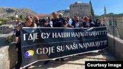 Obilježavanje Međunarodnog dana nestalih u Mostaru. Foto: Institut za nestale osobe BiH