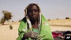 抵达乍得的苏丹达尔富尔难民