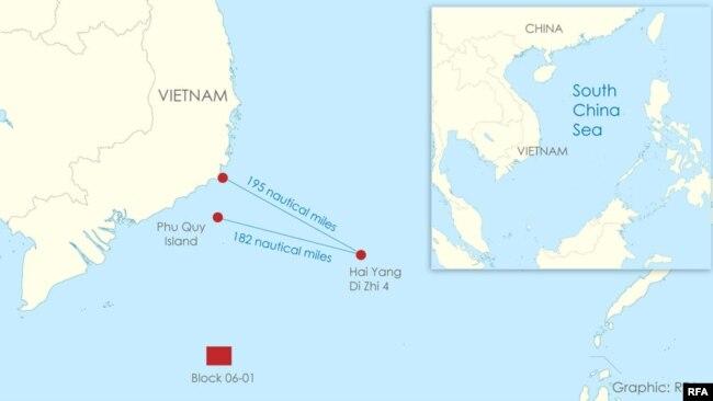 Tàu khảo sát Hải Dương 4 của Trung Quốc cách đảo Phú Quý 182 hải lý, trong vùng đặc quyền kinh tế của Việt Nam ngày 16/6/2020