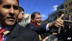 El presidente ecuatoriano, Rafael Correa, es el favorito para ganar las elecciones.