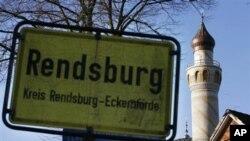 مناره مسجد رندزبورگ در شمال آلمان