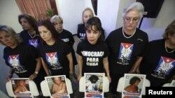 Son permanentes las protestas por la represión del gobierno cubano contra los opositores.