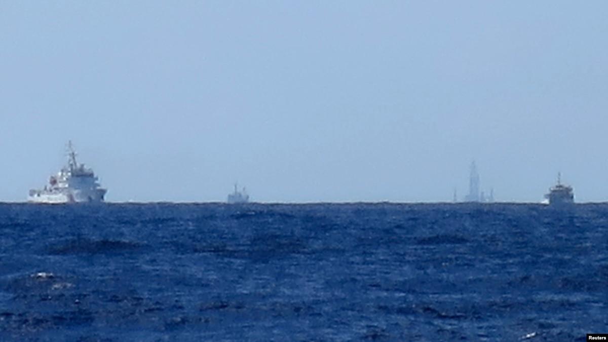 парасельских работает на haiyang островов участке 981 shiyou спорном близ