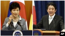 Južnokorejska predsednica Park Geun Hje i japanski premijer Šinzo Abe