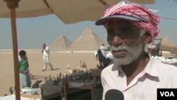在吉萨金字塔景点工作了45年的赛义德