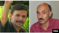 از راست: رسول بداقی و محمود بهشتی لنگرودی، معلمان زندانی
