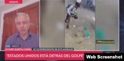 """El exvicepresidente boliviano, Álvaro García Linera, en entrevista para TN Internacional de Argentina, acusó a EE.UU. y la OEA de estar tras """"golpe"""" en Bolivia."""