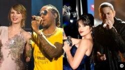 Top Ten Americano: Taylor Swift, Camila Cabelo, Future, Eminem estão a fazer muito sucesso!